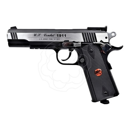 BRUNI PISTOLA CO2 MOD. US COMBAT CAL.4,5 BB CN 816 FULL METAL SILVER LIBERA VENDITA (BR- 601MS)
